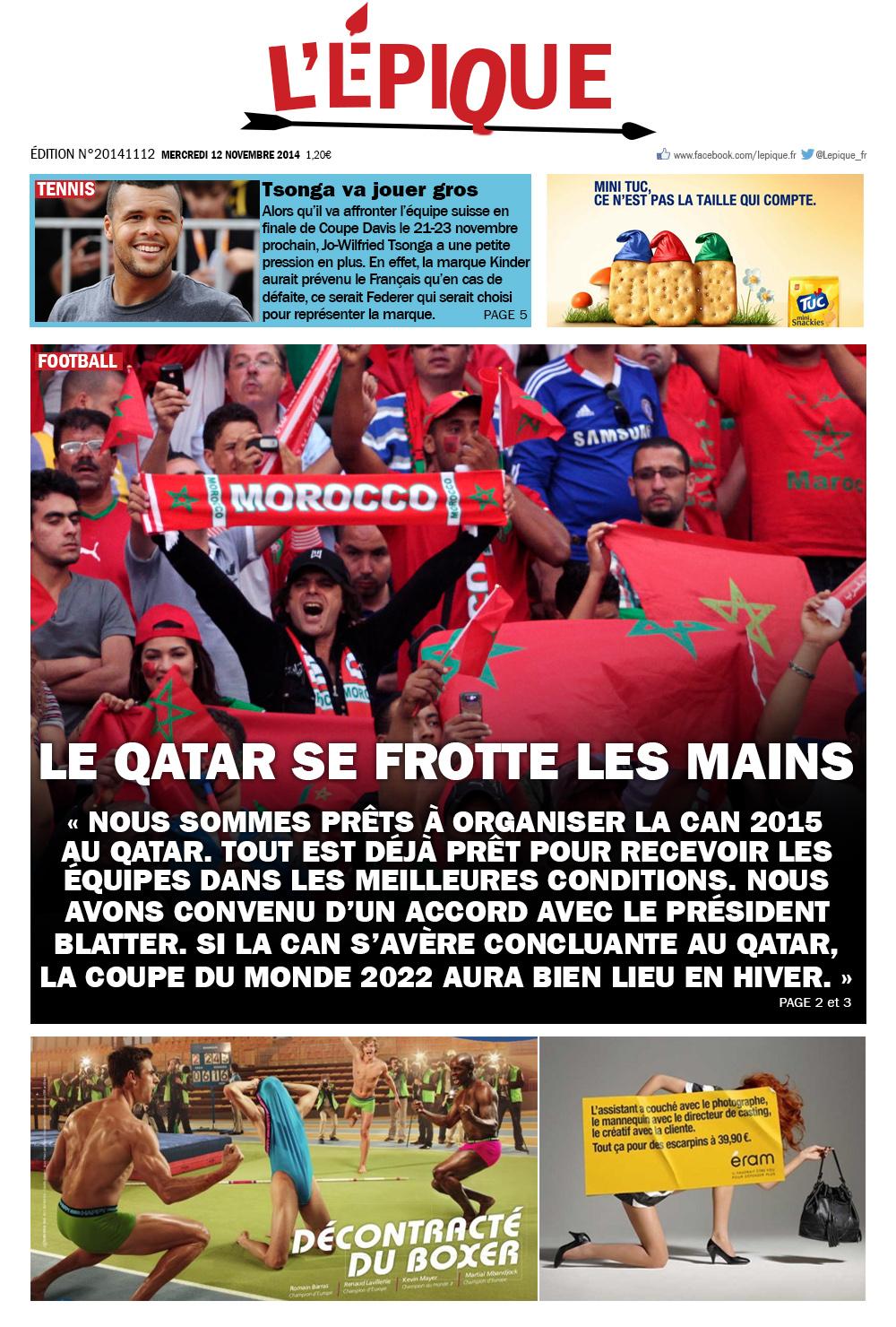 l'epique magazine du 12 novembre 2014