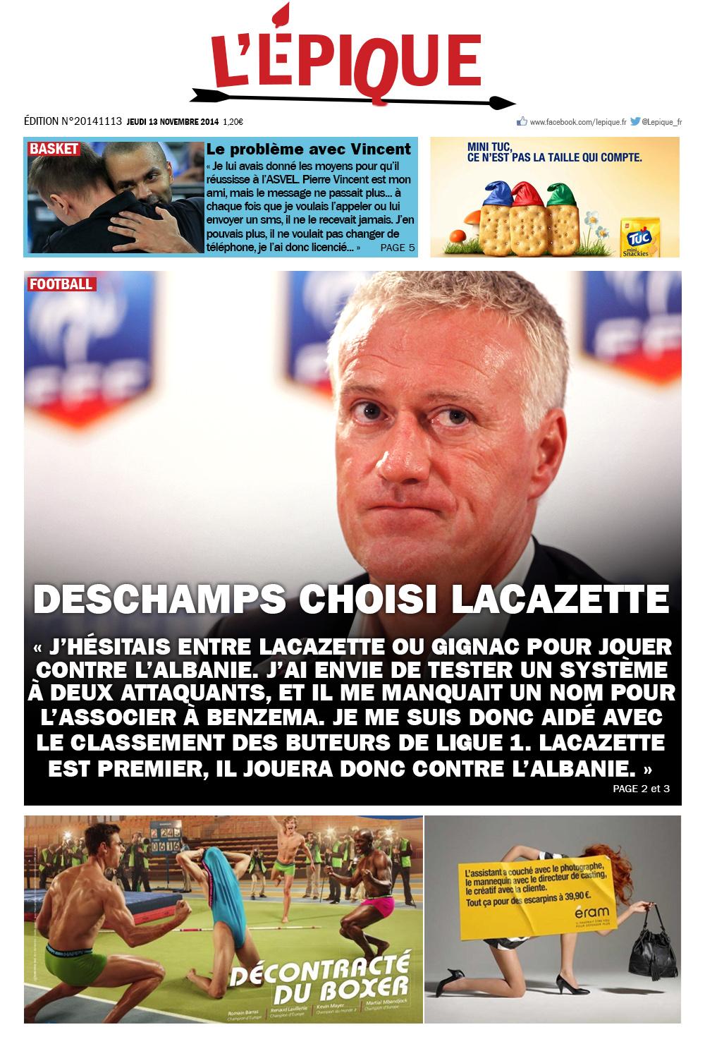 l'epique magazine du 13 novembre 2014