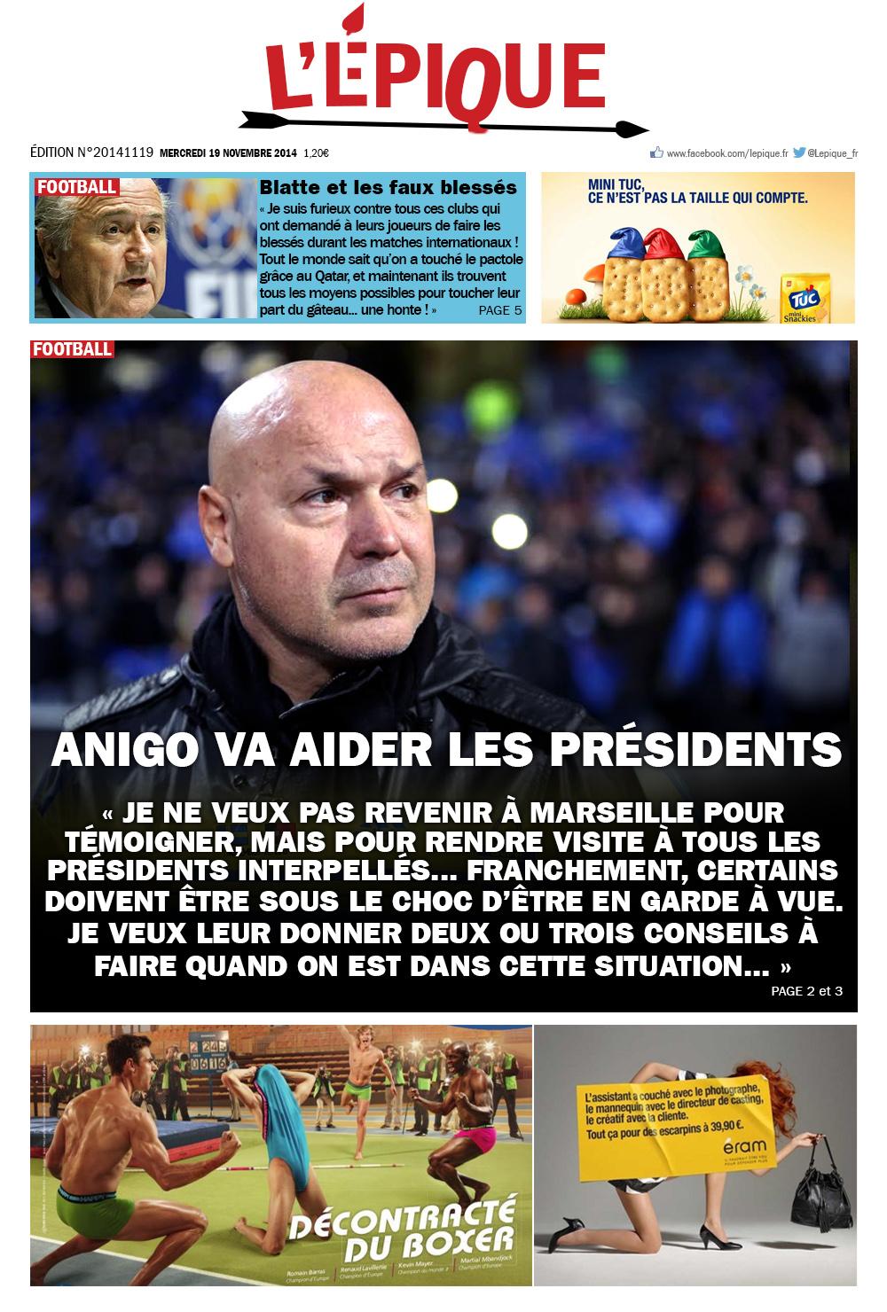 l'epique magazine du 19 novembre 2014