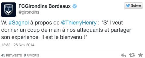 Bordeaux Sagnol Twitter