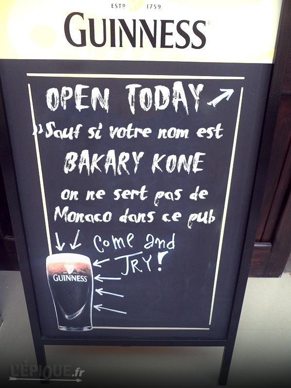 Bakary Kone Pub Lyon